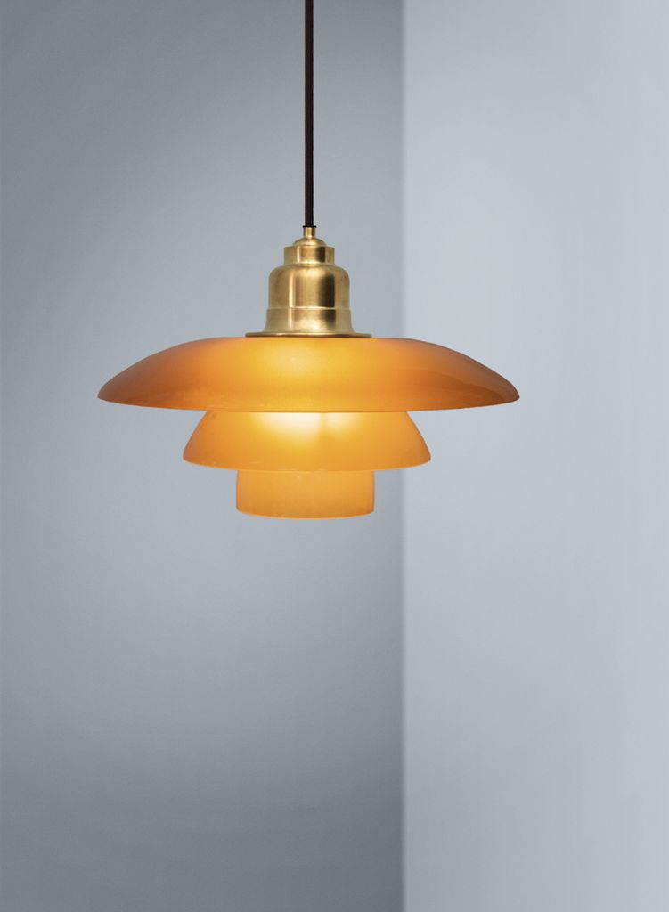 Ph 3 12 3 limited edition pendant lamp in amber glass shades by ph 3 12 3 limited edition pendant lamp in amber glass shades aloadofball Images