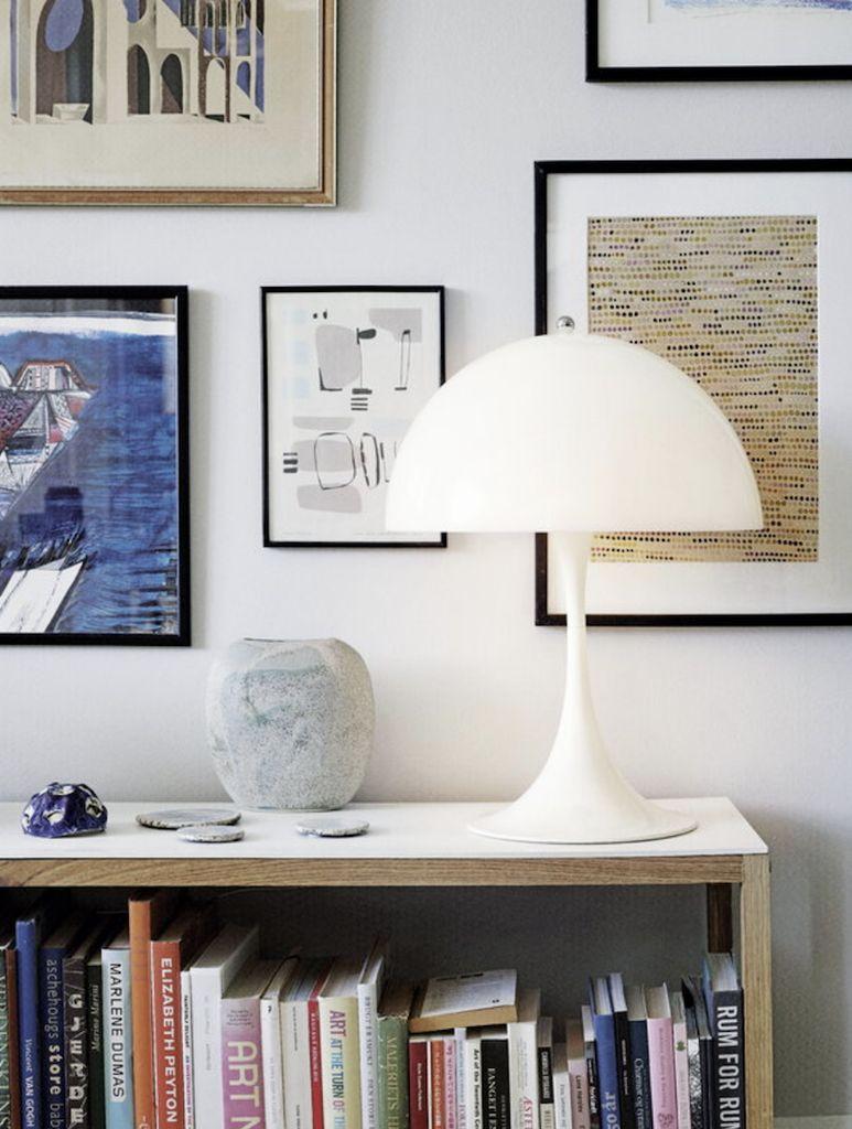 PANTHELLA LED MINI TABLE LAMP, WHITE OPAL ACRYLIC SHADE