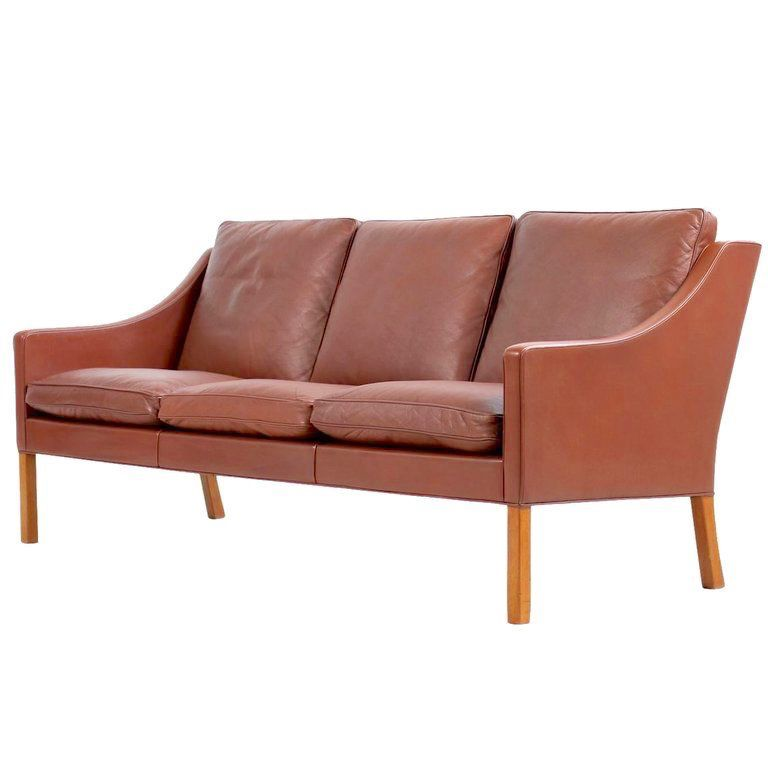 FREDERICIA (DISPLAY) 2209 3-SEATER SOFA IN WALNUT LEATHER