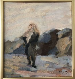 """ELIN IN FIELD"" RARE OIL ON BOARD"