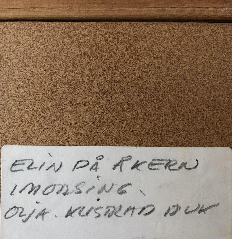 "ANTIQUES ""ELIN IN FIELD"" RARE OIL ON BOARD"
