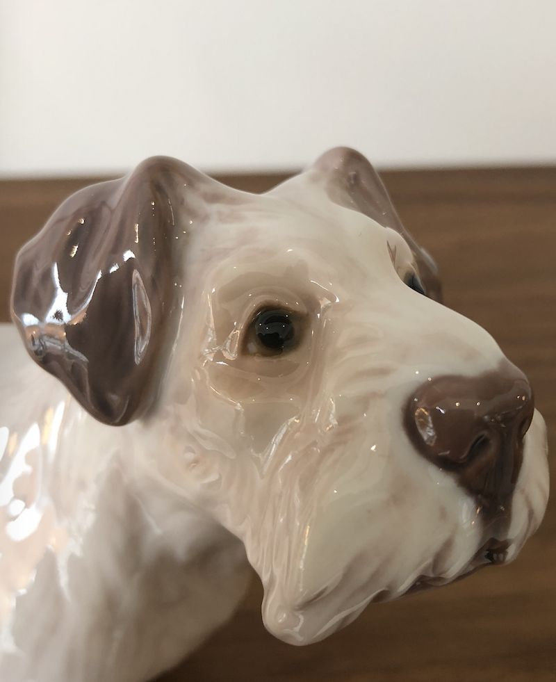 ANTIQUES RARE PORCELAIN SEALYHAM TERRIER BY DAHL JENSEN