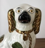ANTIQUES STAFFORDSHIRE EARTHENWARE KING CHARLES SPANIEL