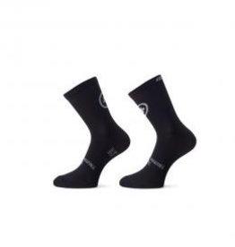 ASSOS ASSOS TIBURU SPRING/FALL SOCKS_EVO8 BLACK SERIES 2 PAIRS XL-XLG