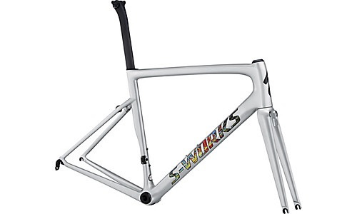 SPECIALIZED® 2018 S-WORKS TARMAC MEN SL6 FRAMESET Gloss Light Silver/Explosion/Clean 56 cm/Large