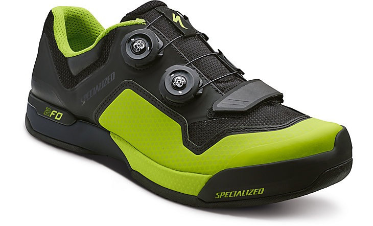 SPECIALIZED® 2FO CLIPLITE MTB SHOE BLK/MONGRN 45/11.5