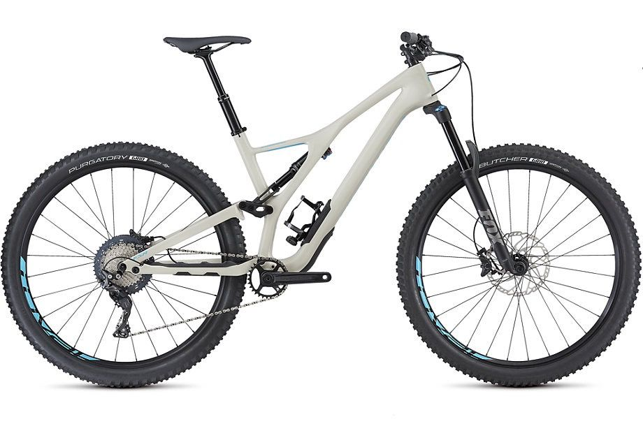 SPECIALIZED® 2018 New Stumpjumper FSR Men Comp Carbon 29 White/Blue Large