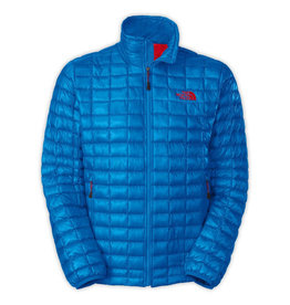 The North Face TNF M Thermoball Full Zip Jacket, Drummer Blue/TNF Red, M