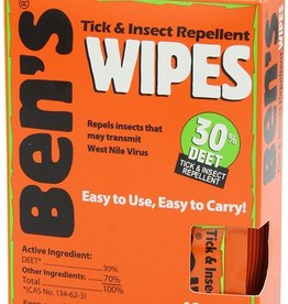 Adventure Medical Kits AMK Ben's 30 Field Wipes, 12 Pack