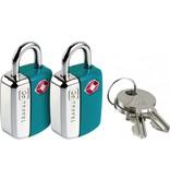 Design Go Design Go Mini Glo TSA Locks (Blue)