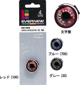 Evernew Evernew Metallic Wrist Thermometer, Red