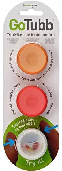 Humangear Humangear GoTubb 3pk Small/14cc (Red/Orange/Clear)