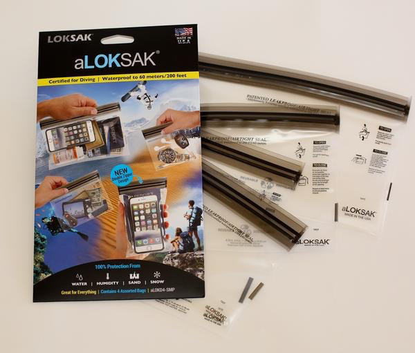 "Loksak Loksak 1 each of  5"" x 4"", 4"" x 7"", 6"" x 6"",  9"" x 6"""