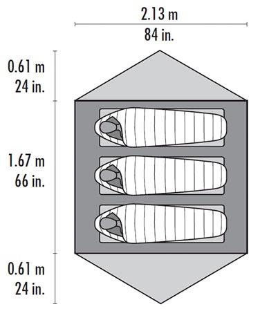 MSR MSR Footprnt, Carbon Reflex 3, V3