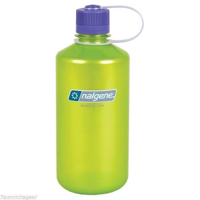 Nalgene Nalgene 32oz Narrow Mouth 2078-2040 Lime with Purple Cap