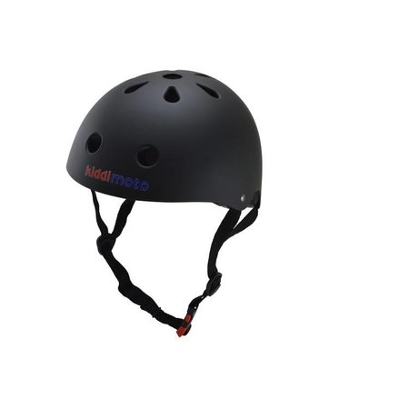 Kiddimoto Kinderhelm Matte Black Medium