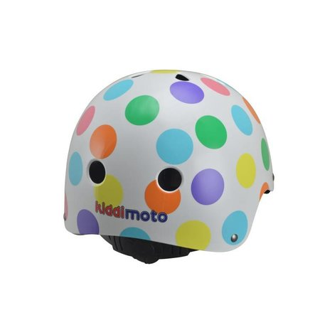 Kiddimoto Kinderhelm Pastel Dotty Small