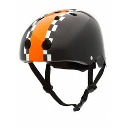 CoConuts Kinderhelm Black Race Stripe Medium