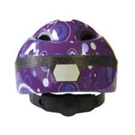 Kinderhelm QT Purple Dots
