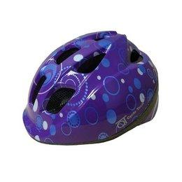 Kinderhelm QT Purple Dots