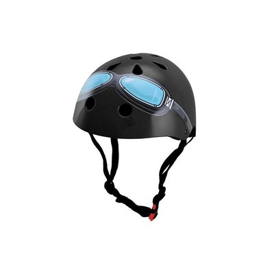 Kiddimoto Kinderhelm Black Goggle Medium