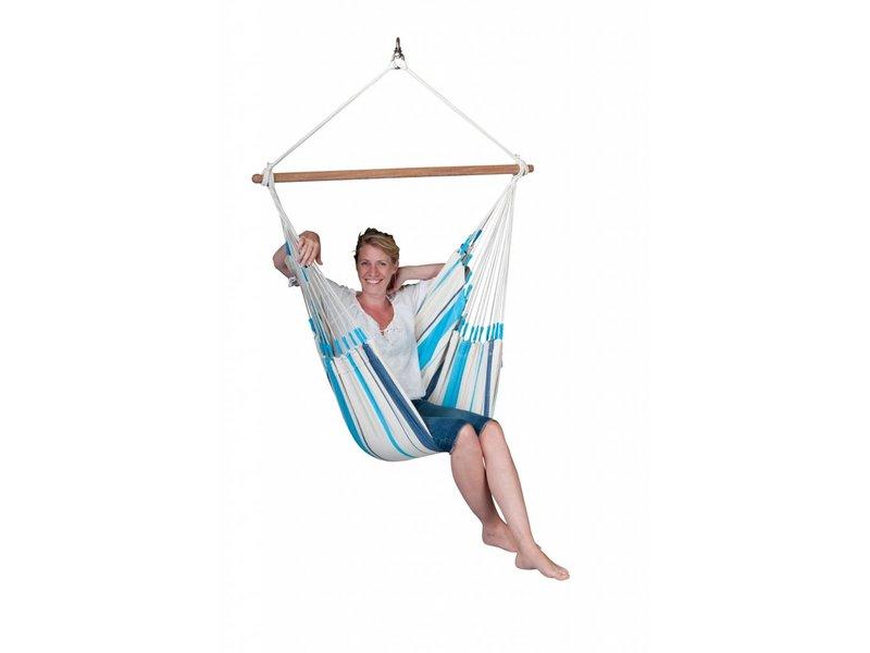 La Siesta Hangstoel Eenpersoons Caribeña Aqua Blue