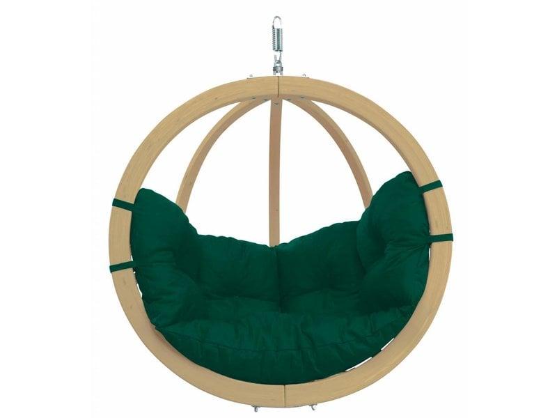 Hangstoel Eenpersoons 'Globo' Weatherproof Green