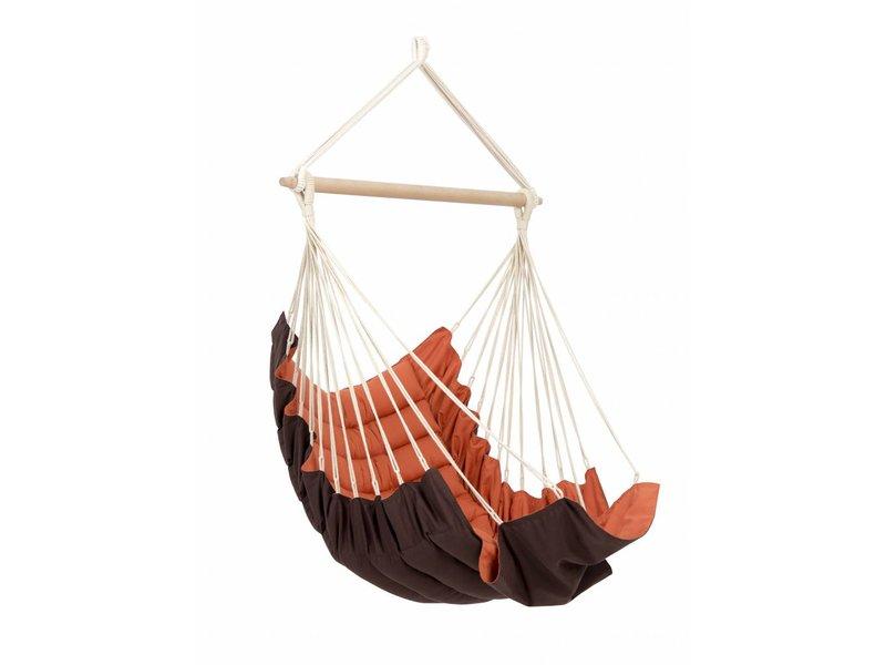 Hangstoel Eenpersoons 'California' Terracotta