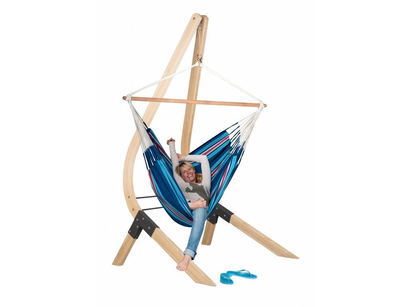 Hangstoelset 'Vela' Lounger Blueberry