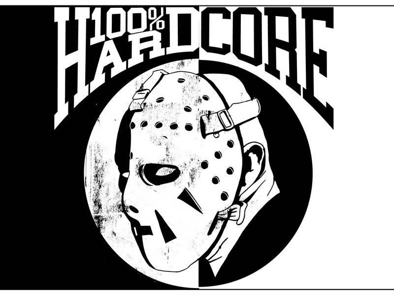100% Hardcore 100% Hardcore vlag Hockey Mask