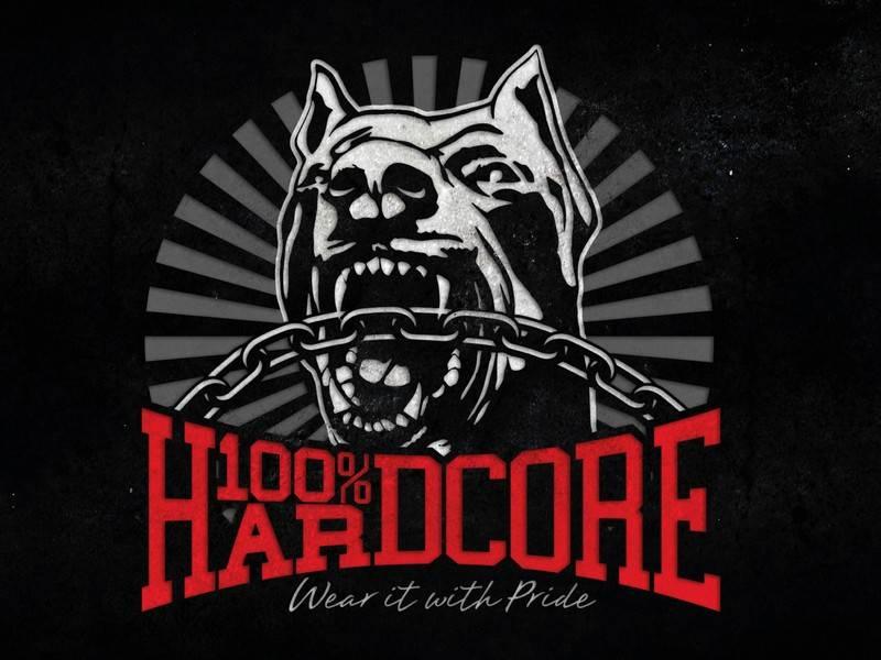 100% Hardcore 100% Hardcore vlag Dog 1