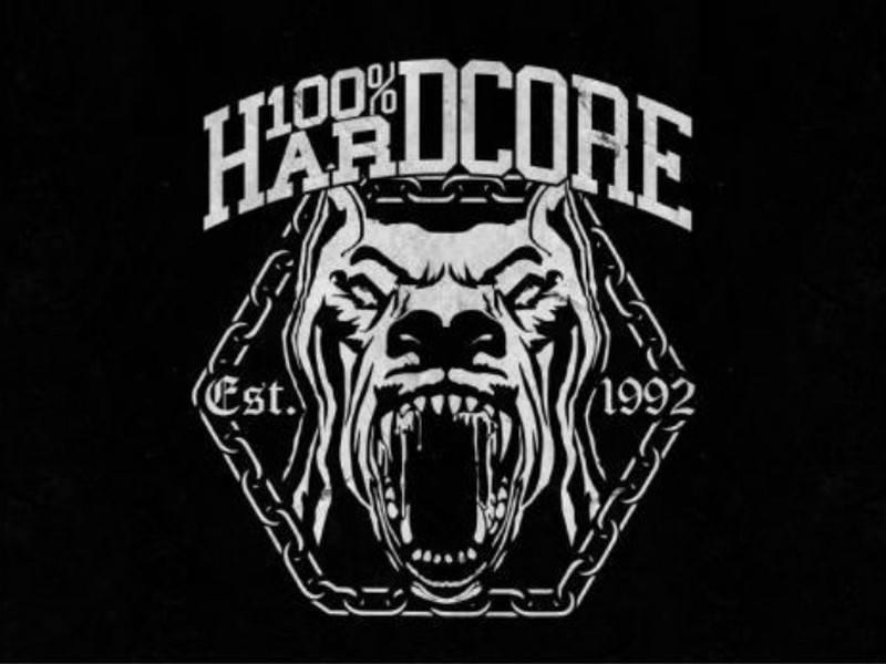 100% Hardcore 100% Hardcore vlag Dog 2