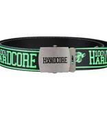 100% Hardcore 100% Hardcore canvas riem zwart/groen Naam
