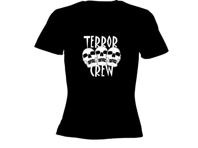 E.P. Lady t-shirt zwart Terror Crew