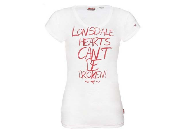 Lonsdale Lonsdale dames t-shirt wit Kingswood