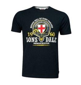 Lonsdale Lonsdale slimfit t-shirt zwart Hall Of Fame