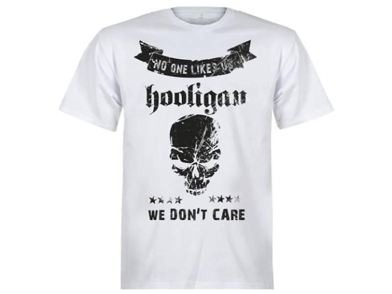 Hooligan Streetwear Hooligan t-shirt wit Don't Care