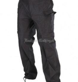 Militaire broek zwart afritspijp