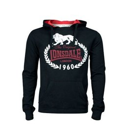 Lonsdale Lonsdale hooded sweater zwart Darnell-M