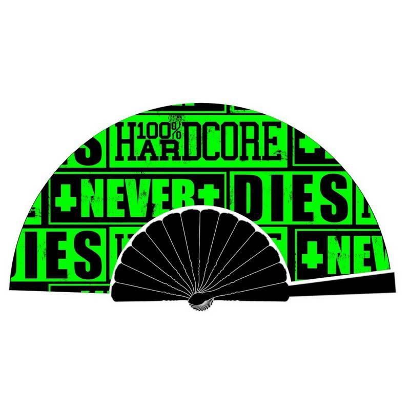 100% Hardcore 100% Hardcore waaier Never Dies Green
