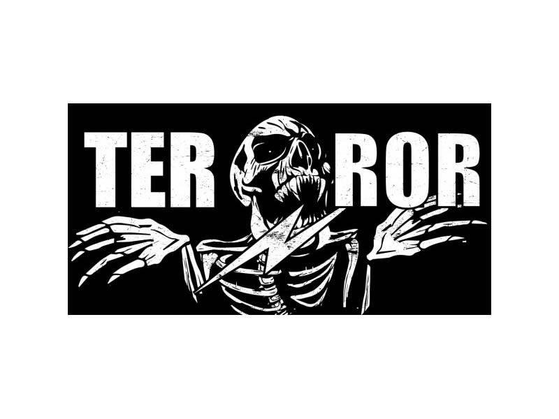 Terror Terror vlag Lightning