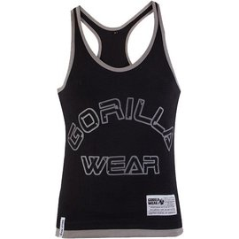 Gorilla Wear Logo Stringer Tank Top - Black