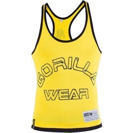 Gorilla Wear Logo Stringer Tank Top - Yellow