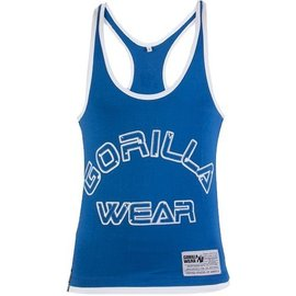 Gorilla Wear Logo Stringer Tank Top - Blue