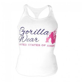 Gorilla Wear Ladies Classic Tank Top - White