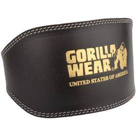 Gorilla Wear Full Leather Padded Lifting Belt