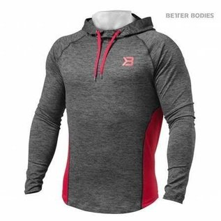 Better Bodies Performance Mid Hood - Graphite/Red