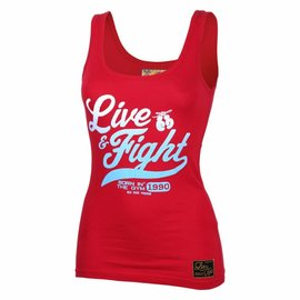 Olimp Live & Fight Tank Top Original 90 - Red
