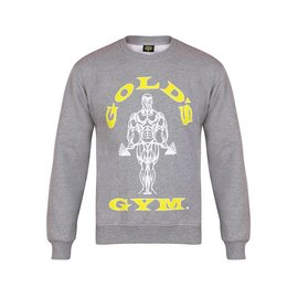 Gold's Gym Muscle Joe Crew Neck Sweater - Grey Marl