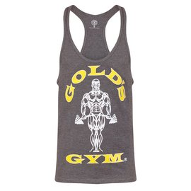 Gold's Gym Muscle Joe Premium String Vest - Grey Marl
